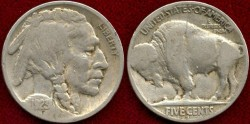 Us Coins - 1923-S  5c  GOOD+