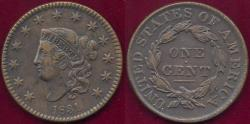 Us Coins - 1831 LARGE LETTERS  1c  XF