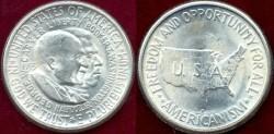 Us Coins - WASHINGTON-CARVER 1953-S  50c ......... MS65