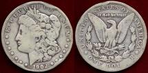 Us Coins - 1902-S MORGAN $1  VG/F  rim bumps