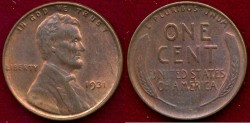 Us Coins - 1931  LINCOLN  1c  MS63 RB