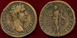 Ancient Coins - ANTONINUS PIUS  138-161 AD SESTERTIUS