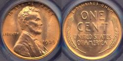 Us Coins - 1939 LINCOLN CENT MS65RD  PCGS