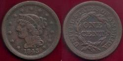 Us Coins - 1843 MATURE HEAD,  Lg.Ltrs.   VF
