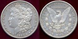Us Coins - 1901-S MORGAN DOLLAR  AU55 ... SHARP STRIKE