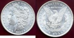 Us Coins - 1880-O MORGAN $1  MS63  WHITE