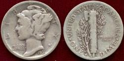 Us Coins - 1931-D  MERCURY 10c .... VERY GOOD