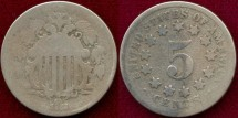 Us Coins - 1868 5c  ..... GOOD
