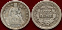 Us Coins - 1853  Seated  10c.....  VERY GOOD