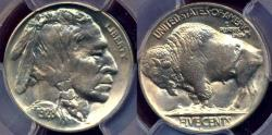 Us Coins - 1928-D BUFFALO  5c  PCGS MS64  PQ