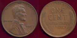 Us Coins - 1927-D LINCOLN 1c AU