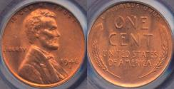 Us Coins - 1946-S LINCOLN CENT MS65RD PCGS
