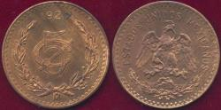 World Coins - MEXICO 1927 5 CENTAVOS  MS63 RB  UNCIRCULATED