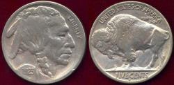 Us Coins - 1923-S BUFFALO NICKEL  VF30 ... FULL HORN