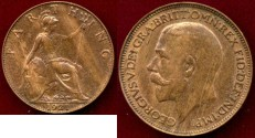 World Coins - GREAT BRITAIN 1921  FARTHING ... UNCIRCULATED