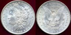 Us Coins - 1885-O MORGAN DOLLAR MS65 ..  BLAST WHITE!
