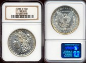 Us Coins - 1889-O  MORGAN $1  NGC  MS63