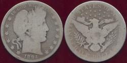 Us Coins - 1894-O BARBER 50c  AG