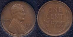 Us Coins - 1914-D LINCOLN CENT  IGC  VF35