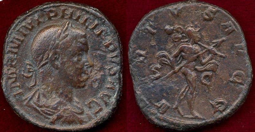 Ancient Coins - PHILIP II  282 AD ...  SESTERTIUS