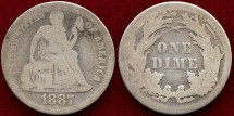Us Coins - 1838 seated  10c ...... GOOD