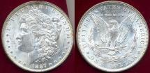 Us Coins - 1887-O MORGAN $1 MS63