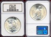 Us Coins - 1925 PEACE DOLLAR NGC MS66