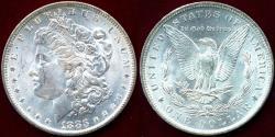 Us Coins - 1883-O MORGAN DOLLAR MS64+  BLAST WHITE
