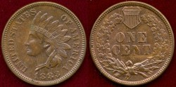 Us Coins - 1883 INDIAN 1c MS64+ BN