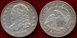 Us Coins - 1829 BUST 10c  VF35