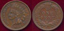 Us Coins - 1886 TY2  INDIAN  1c