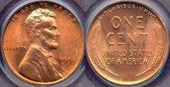 Us Coins - 1953-S LINCOLN CENT MS65RD