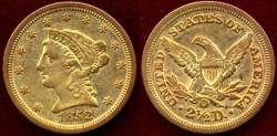 Us Coins - 1852-O  $2 1/2 GOLD  Liberty  NGC XF
