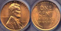 Us Coins - 1944 LINCOLN CENT MS66RD PCGS
