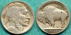 Us Coins - 1924-D BUFFALO 5c ....   FINE