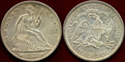 Us Coins - 1874 Arrows  SEATED 50c..... About UNCIRCULATED