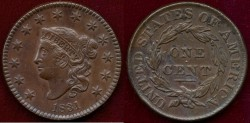 Us Coins - 1831  LARGE 1c ..... PREMIUM About UNCIRCULATED