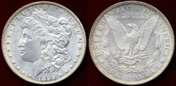 Us Coins - 1899 MORGAN DOLLAR   MS60  .....  VERY LOW MINTAGE DATE