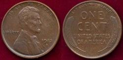 Us Coins - 1913-S LINCOLN 1c  SHARP AU58