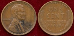 Us Coins - 1925-S  LINCOLN 1c .......  SHARP EXTRA FINE