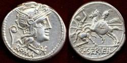 Ancient Coins - C. SERVILIUS VATIA  127 BC   Denarius