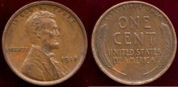 Us Coins - 1918  LINCOLN 1c   AU58