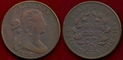 Us Coins - 1801  LARGE 1c .... EXTRA FINE