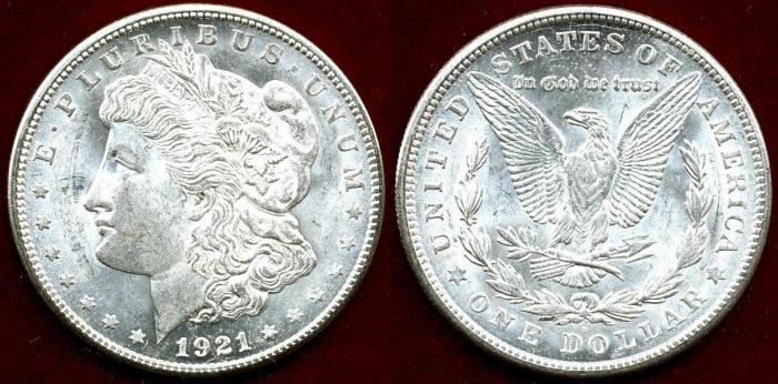 US Coins - 1921-S MORGAN $1  MS63