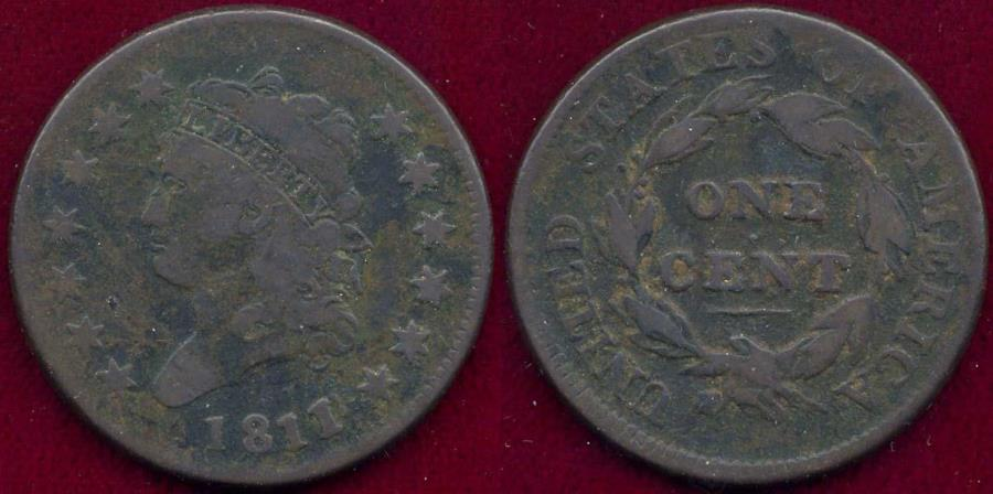 US Coins - 1811 CLASSIC LARGE 1c  VG