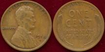 Us Coins - 1912-D 1c  CHOICE VERY FINE