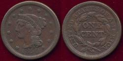 Us Coins - 1850 LARGE CENT VF