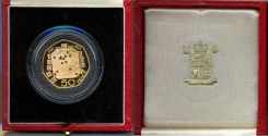 World Coins - GREAT BRITAIN 1992-1993  GOLD  50 OENCE