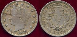 Us Coins - 1910 LIBERTY 5c XF