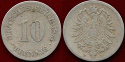 World Coins - GERMANY 1873-F...... 10 PFENNIG